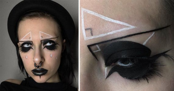 If you've got a couple of hours and a ruler, right angle triangle eyebrows might be for you