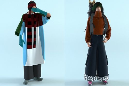 SUNNEI Canvas FW21 Is in a Paradoxical Never-Ending Video Game Universe