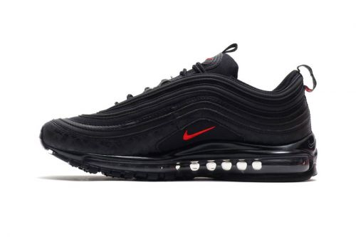 """Nike Highlights Subtle Branding on This New Air Max 97 """"Black/University Red"""" Model"""