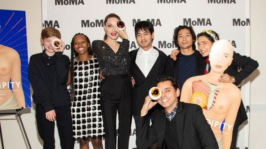 Squad Goals! Angelina Jolie Steps Out With Her Kids for Night of Art and Film