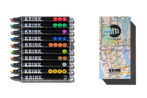 KRINK Joins Forces with New York City's MTA on Special Paint Marker Set