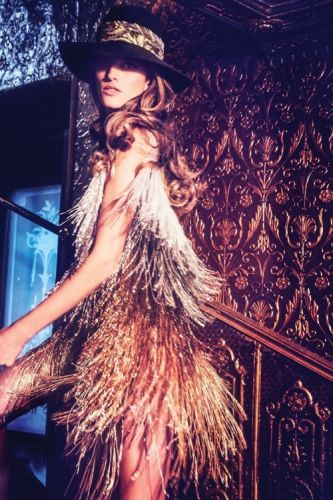Guest editor Izabel Goulart in GEORGES HOBEIKA Haute Couture