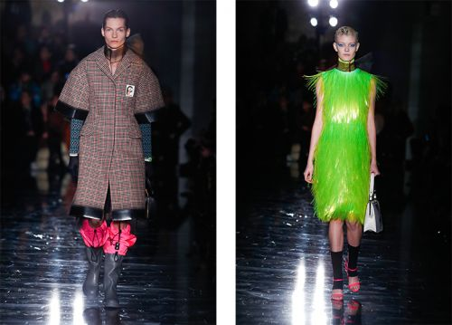 Miuccia Prada is inspired by the duality and struggle of women for AW18