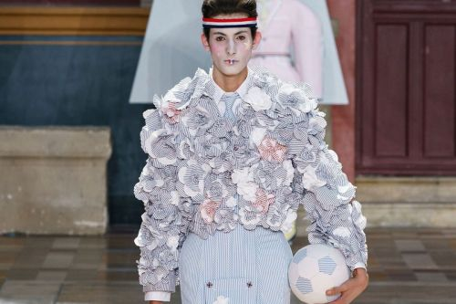 Thom Browne SS20 Fuses Sportswear Whimsy With Marie Antoinette's Dresses