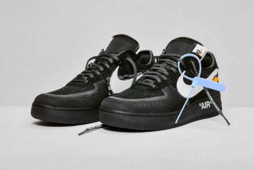 """Off-White™'s Nike Air Force 1 """"Black"""" & """"Volt"""" Official Store List"""