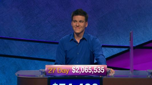 'Jeopardy' champ James Holzhauer surges to 27th victory, over $2M in winnings