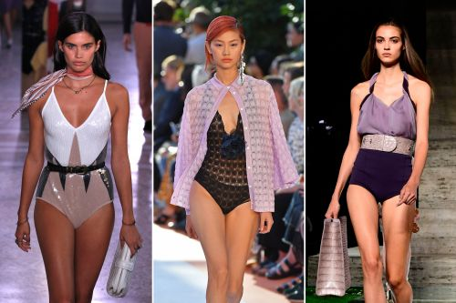 Models go pantless at Milan Fashion Week