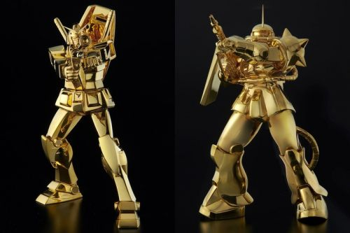 Sunrise is Teaming With U-Works For a Pair of $240,000 USD Gold Gunpla Kits