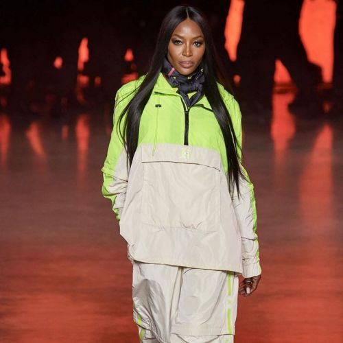 Naomi Campbell graced the runway at Tommy Hilfiger's London show