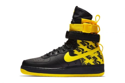 """Nike's SF-AF1 High Combines Black Leather With """"Dynamic Yellow"""" Ballistic Nylon"""