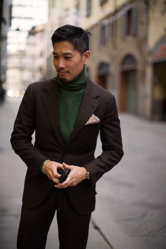 On the Street.Pitti Uomo, Florence