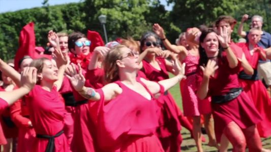 Watch hundreds of Kate Bush fans re-enact the 'Wuthering Heights' video