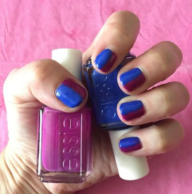 ManiMonday: Half & Half Manicure with Essie DJ Play That Song and Butler Please