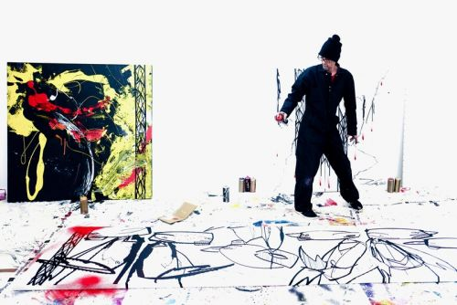 """Futura Reveals Work-In-Progress Paintings for Upcoming """"Abstract Compass"""" Exhibit"""