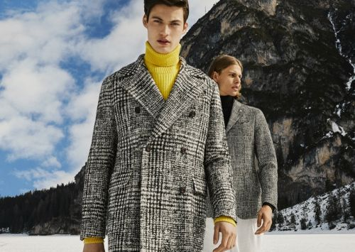 Gabriel & Dominik Visit Lago di Braies for Manuel Ritz Fall '19 Campaign