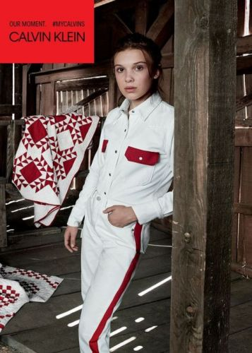 Millie Bobby Brown Models For Calvin Klein The Stranger Things