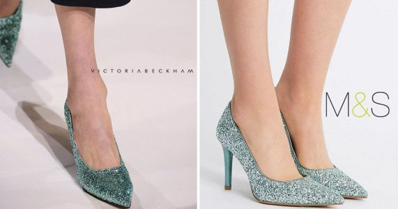 Marks and Spencer is selling some cheap dupes of Victoria Beckham's glittery heels