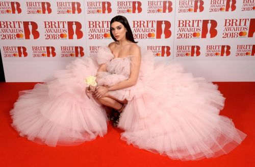 We are so in love with Dua Lipa's stunning pink Brit Awards dress