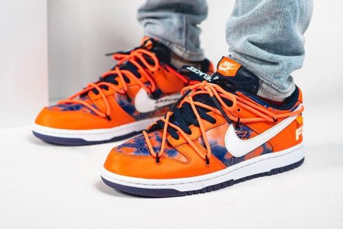 Here's an On-Foot Look at the Off-White™ x Futura Laboratories Nike Dunk Low