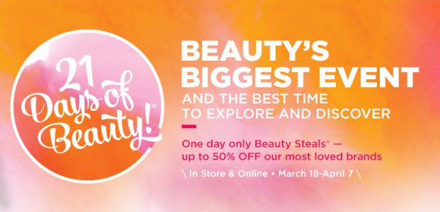 Ulta 21 Days of Beauty | March 18th through April 7th