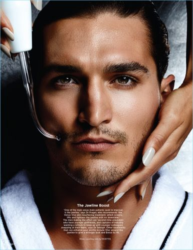 Andrew Lewandowski Stars in Grooming Story for British GQ Style