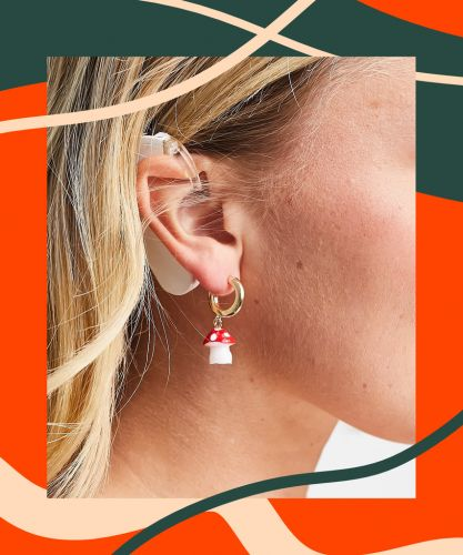ASOS' New Earrings Are Worn By A Model With A Cochlear Implant