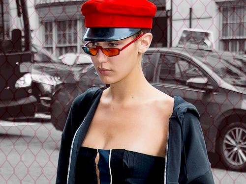 What On Earth Is Bella Hadid Hiding Under Her Hat?