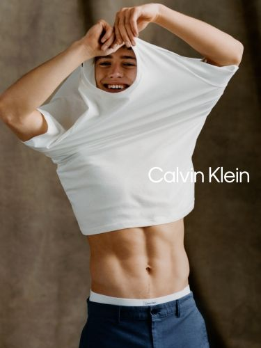 Valentin Humbroich Charms in Essentials for Calvin Klein Spring Campaign