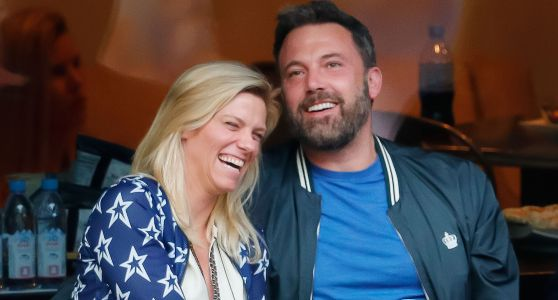 Ben Affleck Was His New Girlfriend Lindsay Shookus' Arm Candy at the 2017 Emmy Awards