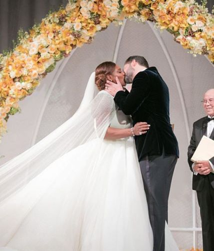 Serena Williams Wore 3 Gorgeous Gowns On Her Wedding Day