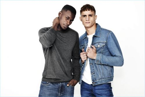David Agbodji, Julian Schneyder + More Front River Island Denim Campaign