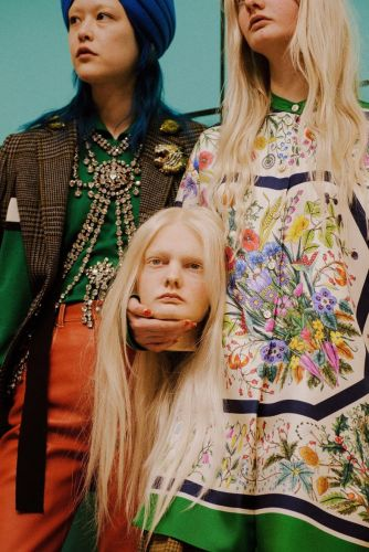 Severed heads, one-eyed cyborgs and baby dragons hit Gucci's AW18 runway