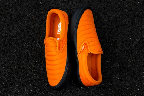 "Vans's Quilted Slip-On Rework Receives a Bright ""Russet Orange"" Colorway"