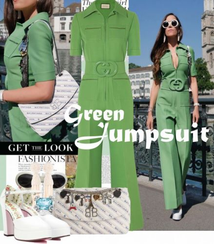 My Look: Green Jumpsuit