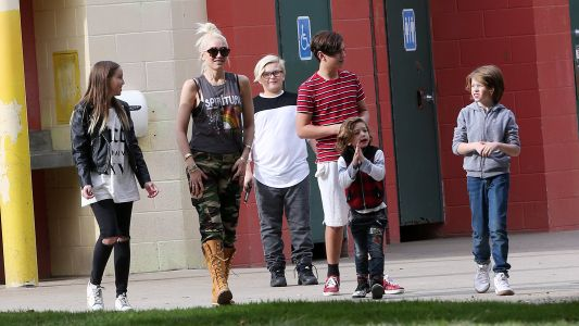 She's Not A Regular Mom, She's A Cool Mom! Gwen Stefani Rocks Camo And Shades While At The Park With Her Kids