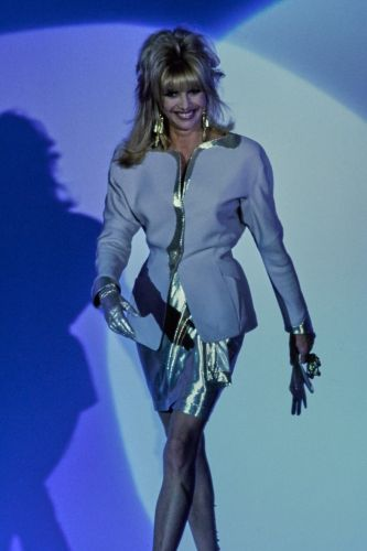 That time a porn star and Ivana Trump walked for Mugler