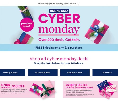 Ulta Cyber Monday 2020 Deals & Sales