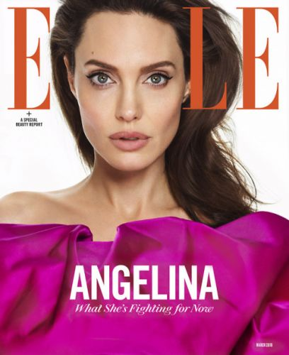 Angelina Jolie is ELLE's March 2018 cover star.It's Editor in