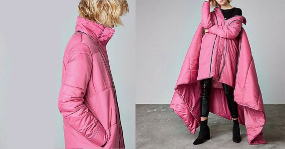 River Island is selling a £180 sleeping bag coat and fashion has definitely gone too far
