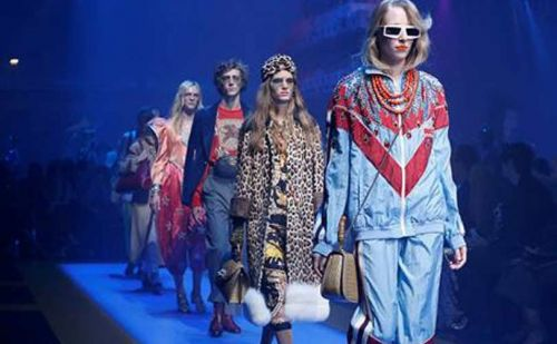 Gucci returns to the 80s at Milan Fashion Week