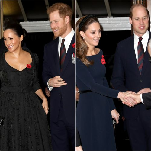Duchess Meghan, Prince Harry, Duchess Kate and Prince William Reunite at the Festival of Remembrance