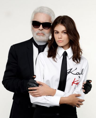 Kaia Gerber's collaboration with Karl Lagerfeld is here