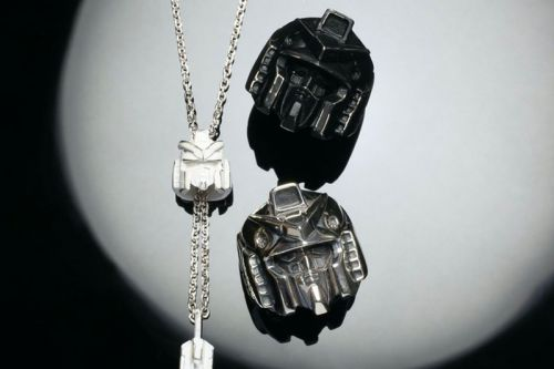 JAM HOME MADE Reimagines Gundam Helmets With Weathered Jewelry