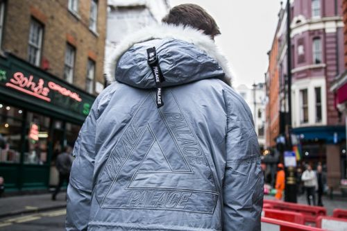 Palace's London Fans Embrace Winter Vibes and Go Hard for Outerwear
