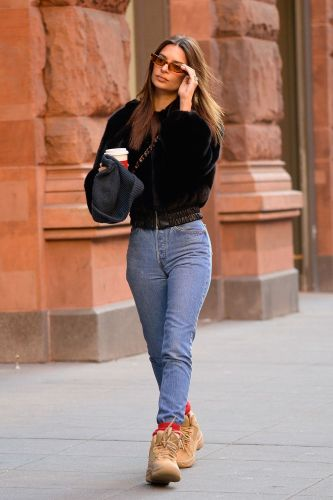 EmRata Wore the Winter Skinny Jeans Outfit a Podiatrist Wouldn't Touch