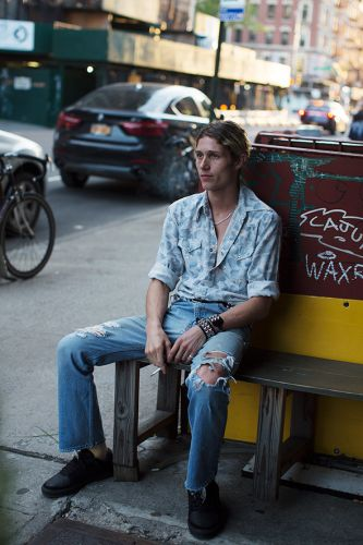 On the Street.Lower East Side, New York