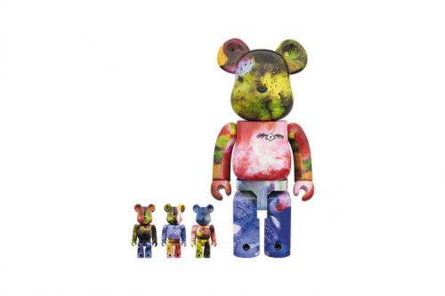 Pushead & Medicom Toy Unveil Color-Splattered BE RBRICK Figures