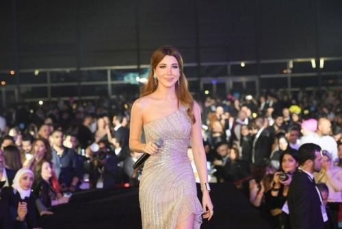 Nancyajram was stunning this New Year's eve in Dubai wearing