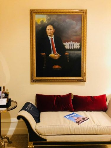 Artist claims he hung a Putin portrait in Trump hotel and no one noticed