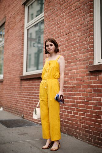 On the Street.How Not To Overdress During Fashion Week